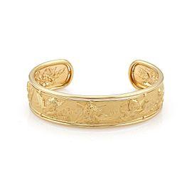 Carrera y Carrera 18k Yellow Gold Musical Cherub Wide Cuff Bracelet