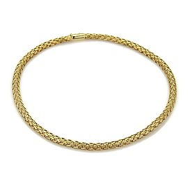 Roberto Coin Woven Silk 18k Yellow Gold 6mm Wide Choker Necklace
