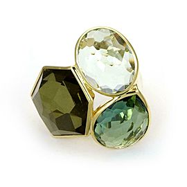 Ippolita Rock Candy Topaz 3 Stone 18k Yellow Gold Ring 7.5