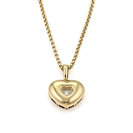 Chopard Happy Diamond 18k Yellow Gold Heart Pendant & Chain Necklace