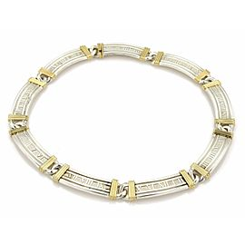 Tiffany & Co. Atlas Sterling 18k YGold Roman Numeral Hefty Collar Necklace