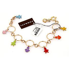 Roberta Porrati Baby Caracol 18K Yellow Gold Diamond Charm Bracelet