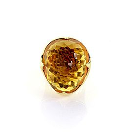 Ippolita Citrine 18k Yellow Gold Large Dome Ring Size - 6.5