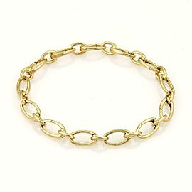 Tiffany & Co. 18k Yellow Gold All Around Oval Clasping Link Bracelet