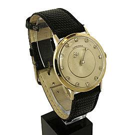 Vintage Longines 14k White Gold & Diamonds Mystery Dial Wrist Watch