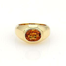 Bulgari Bvlgari 2ct Oval Citrine 18k Yellow Gold Solitaire Ring Size 5.5