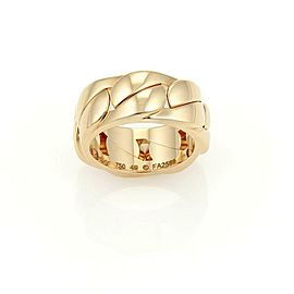 Cartier 18k Rose Gold Solid Curb Link 8mm Band Ring Size EU 49-US 5 w/Box