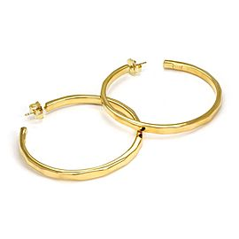Ippolita Glamazon 18k Yellow Gold 60.5mm Round Hoop Earrings