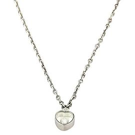 Chopard Happy Diamond 18k White Gold Mini Heart Pendant & Chain