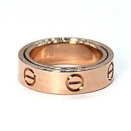 Cartier Love Secret 18k Rose Gold 5.5mm Band Ring Size 48-US 4.5