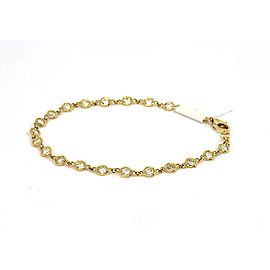 "New 1.54ct Diamond By The Yard 14k Yellow Gold Bracelet 7"" Long"