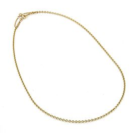 Cartier 18k Yellow Gold 2mm Classic Oval Link Chain Necklace