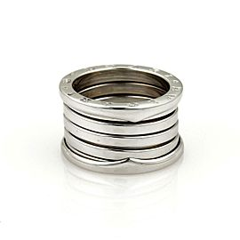 Bvlgari Bulgari B Zero 1 18k White Gold 13mm Band Ring Size 52-US 5.5