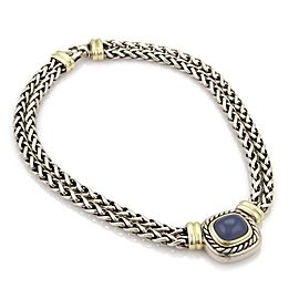David Yurman Albion Chalcedony 14k Gold & 925 Silver Double Chain Necklace