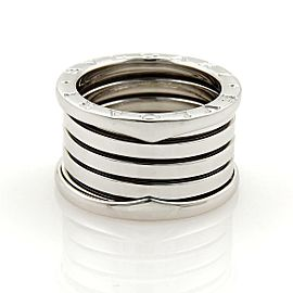 Bulgari Bulgari B Zero-1 18k White Gold 13mm Band Ring Size EU 49-US 4.5