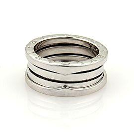 Bulgari Bulgari B Zero-1 18k White Gold 9mm Wide Band Ring Size 48 -US 4