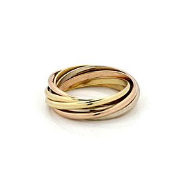 60021 Cartier Trinity 18k Tricolor Gold 1.6mm 7 Band Ring Size 50-US 5.5 w/Cert