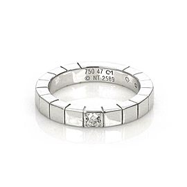Cartier Lanieres Diamond 18k White Gold 3mm Wide Band Ring Size 47-US 4