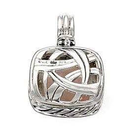 David Yurman Albion Diamond Rose Quartz Sterling Pendant