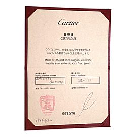 Cartier Happy Birthday 18k White Gold 4mm Wide Band Ring Size 52-US 5