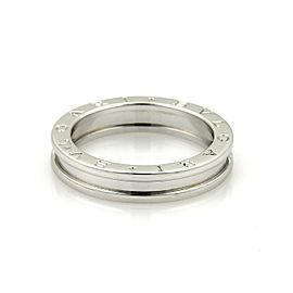 Bulgari Bulgari B Zero-1 Single 18k White Gold 4.5mm Band Ring Size EU 57