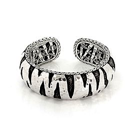 John Hardy Palu Macan Two Tone Sterling Silver Hammered Dome Cuff Bracelet