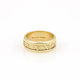 Tiffany & Co. 18K Yellow Gold 7mm ATLAS Numerical Band Ring- Size 5