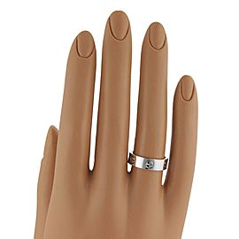 Cartier Love 18k White Gold 5.5mm Band Ring Size EU 48-US 4.25