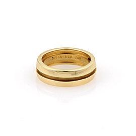 Tiffany & Co. 18K Yellow Gold 6mm Atlas Band Size 5