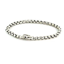 "David Yurman Sterling Silver 5mm Box Link Chain Bracelet 8.75"" Long"