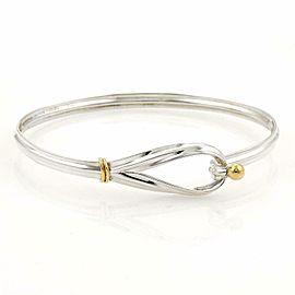 Tiffany & Co. Sterling 18k Yellow Gold Loop Hook Bangle