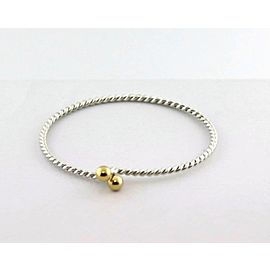 Tiffany & Co. Sterling 18k Yellow Gold Twisted Wire Hook Bangle