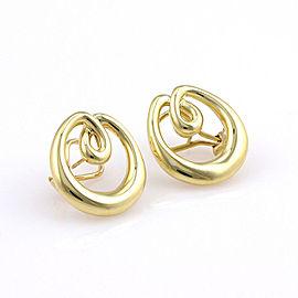 Tiffany & Co. 18K Yellow Gold Circular Designer Dress Earrings w/ Box