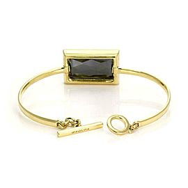 Ippolita Diamond Rutilated Hematite 18k Yellow Gold Toggle Bangle Bracelet