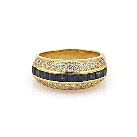 Tiffany & Co Vintage 2.12ct Diamond & Sapphire 18k Gold Band Ring Appraisal