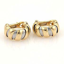 Bulgari Bulgari Tugobas18k Yellow Gold & Steel 11mm Wide Hoop Earrings