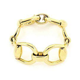 Gucci 18k Yellow Gold Horse Bit Link Bracelet