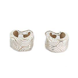 Tiffany & Co. 1996 Sterling Silver 16.5mm Wide Huggie Earrings