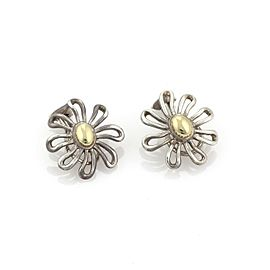 Tiffany & Co. Picasso 1981 Sterling 18k Yellow Gold Daisy Clip On Earrings