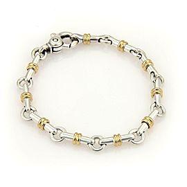 Tiffany & Co. 18k Yellow Gold Sterling Long Bar Link Bracelet