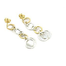 Tiffany & Co. Sterling 18k Gold Assorted Size Circle Link Dangle Earrings