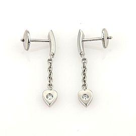 Cartier Mon Amour Diamond Hearts 18k White Gold Drop Dangle Earrings