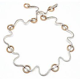 Damiani Brezza 18k White & Rose Gold .78ct Diamond Choker Necklace