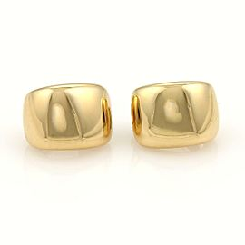 Cartier Nouvelle Vague 18k Yellow Gold Wide Huggie Post Clip On Earrings