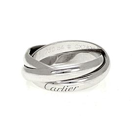Cartier Trinity 18k White Gold Triple Rolling Band Ring Size 54-US 7