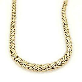 Tiffany & Co. Russian Weave 14k Yellow Gold Graduated Style Necklace
