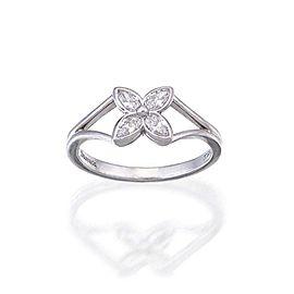 Tiffany & Co. Victoria Diamond Platinum Floral Ring Size 5