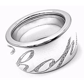 Chopard Chopardissimo 18k White Gold Diamond Signature Band Ring
