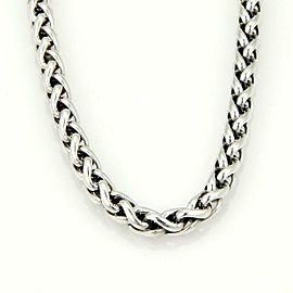 David Yurman Sterling Silver 14k Yellow Gold Woven Chain Necklace