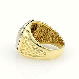 David Yurman Albion 18k Yellow Gold & Sterling Silver Cable Ring Size 9.5